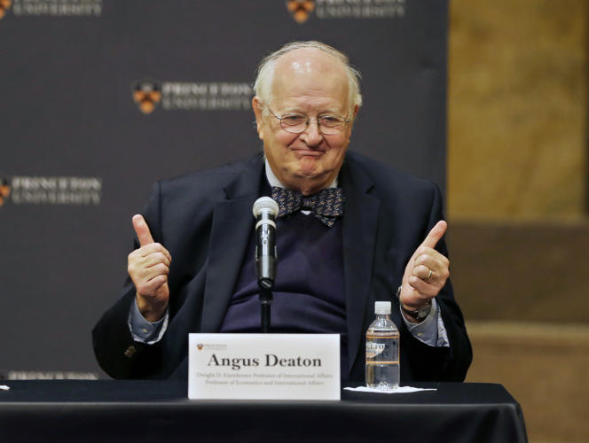 Angus Deaton, à Princeton le 12 octobre 2015.