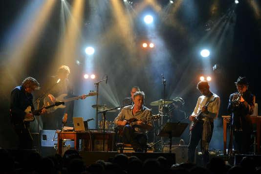 Jean-Paul Kaiser, Rodolphe Burger et Philippe Poirier, le 9 octobre 2015, au festival C'est dans la Vallée, à Sainte-Marie-aux-Mines.
