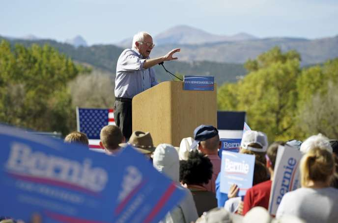 Bernie Sanders lors d'un meeting de campagne à Boulder dans le Colorado, le 10 octobre 2015.
