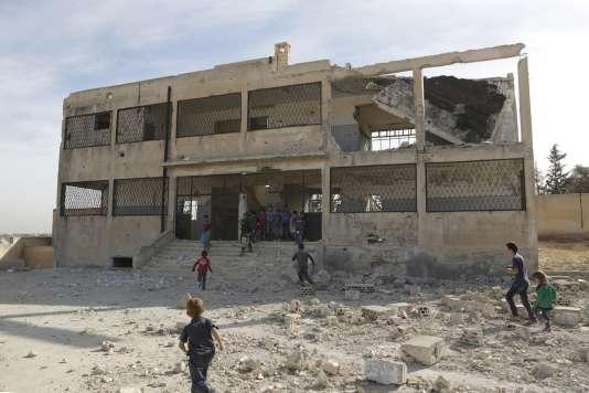 A Ain Qurei, ville contrôlée par les rebelles,  au sud d'Idlib (Syrie), le 12 octobre.