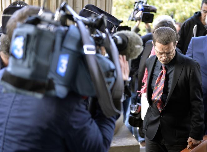 Nicolas Bonnemaison,  le 12 octobre, jour de l'ouverture de son procès en appel devant la cour d'assises du Maine-et-Loire, à Angers.