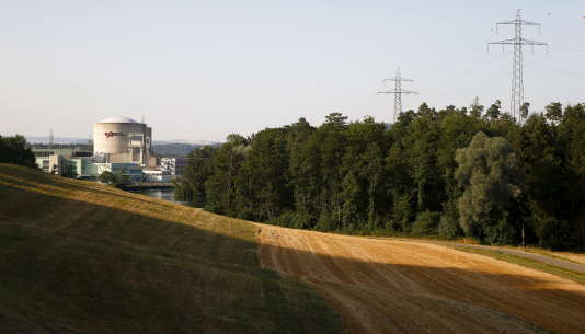 La centrale de Beznau, en juillet.