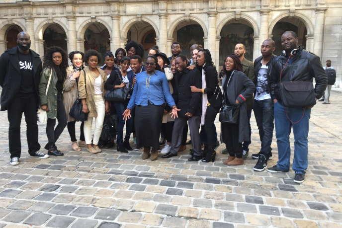 Lors d'une manifestation d'étudiants africains à La Sorbonne, en mai 2015.