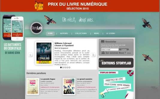 Capture d'écran de la page d'accueil du site Storylab.