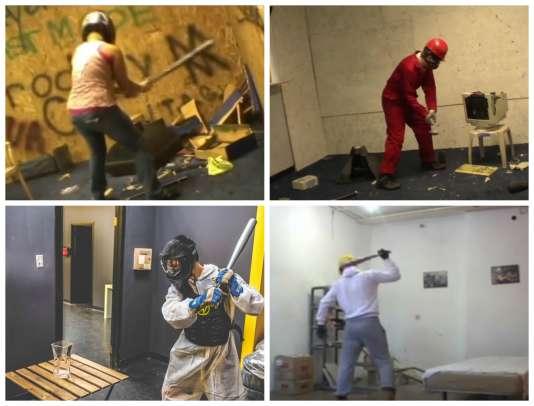 Rage Room, à Toronto, ou Anger Room, à Dallas, fournissent le matériel à casser en toute liberté.