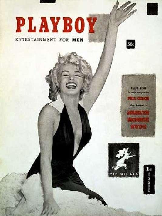 """La première """"une"""" de """"Playboy"""", en 1953, avec Marylin Monroe."""