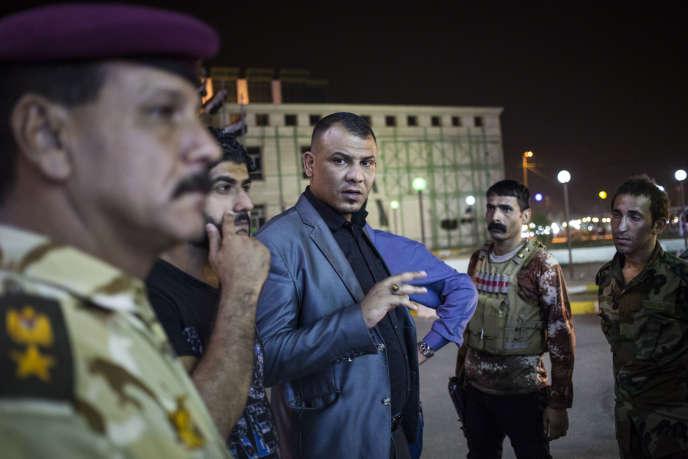 Abdallah Al-Chibani, commandant de brigade des Lions victorieux d'Allah en Irak et au Levant, à Diwaniya (Irak), le 6 octobre.