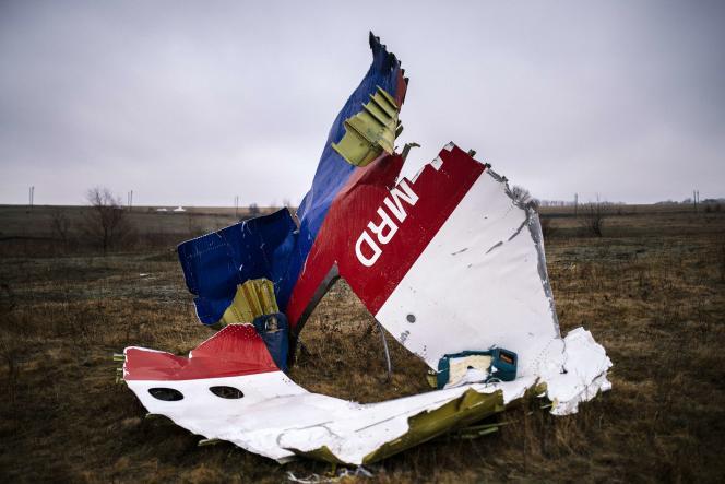 Débris du Boeing 777 de la Malaysia Airlines après le crash à Grabove (Ukraine).