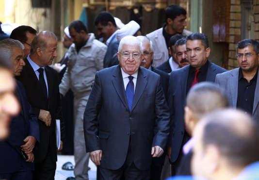 Le président irakien, Fouad Massoum, en novembre 2014, à Nadjaf.