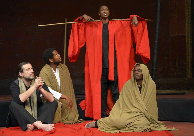 """""""Battlefield"""", monté cet automne par le Britannique Peter Brook au théâtre des Bouffes du Nord. Une des rares pièces de l'année – en anglais – où jouent des acteurs noirs – belge, américain et britannique."""