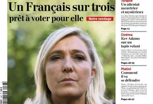 Couverture du « Journal du dimanche » du 11 octobre.