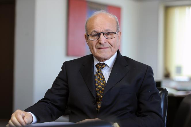 L'homme d'affaires algérienIssad Rebrab à Alger, le 30 janvier 2014.