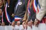 Manifestation des élus de Boulogne-Billancourt (Hauts-de-Seine) contre la baisse des dotations, le 19septembre.
