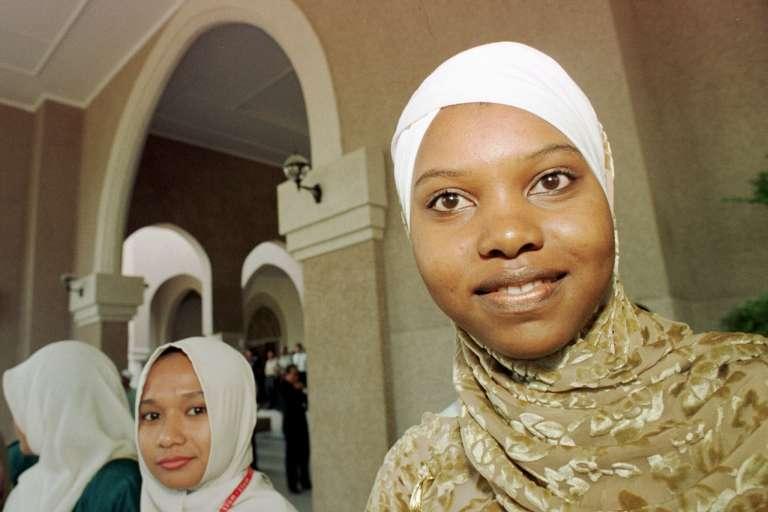 Une étudiante camerounaise de l'université internationale islamique de Malaisie.