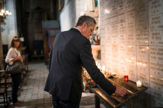 Philippe Saurel à la chapelle royale des Pénitents bleus, à Montpellier, en octobre 2015.