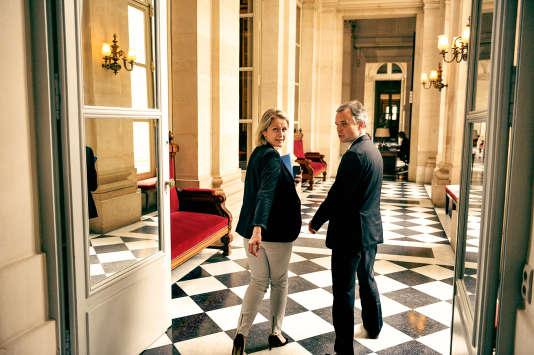 Barbara Pompili et François de Rugy, actuelle et ancien coprésident du groupe écologiste à l'Assemblée nationale.