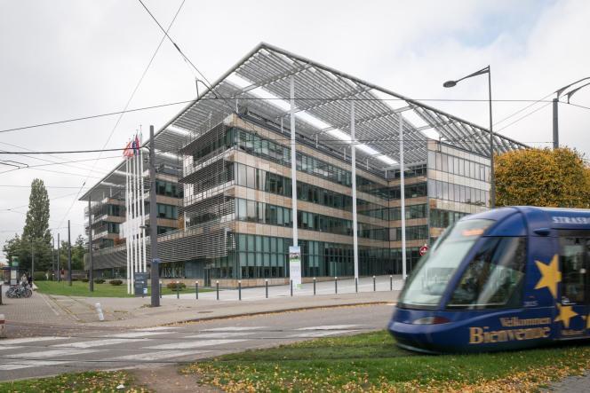 Le conseil régional d'Alsace, à Strasbourg.