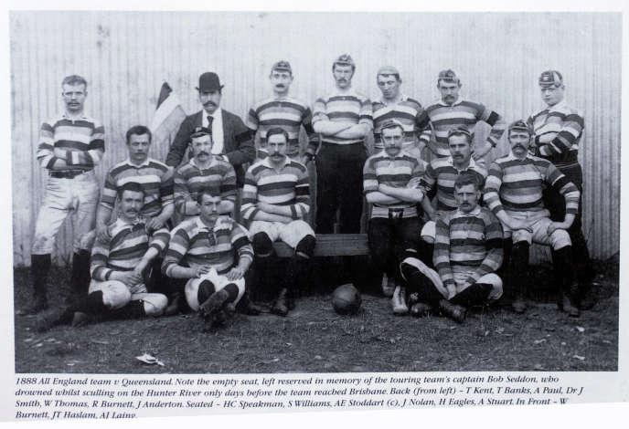 L'équipe des Lions pendant leur première tournée australienne en 1888.