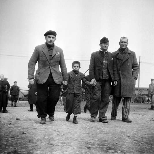 Camp de concentration de Buchenwald en avril 1945, libéré par l'armée américaine le 11 avril.