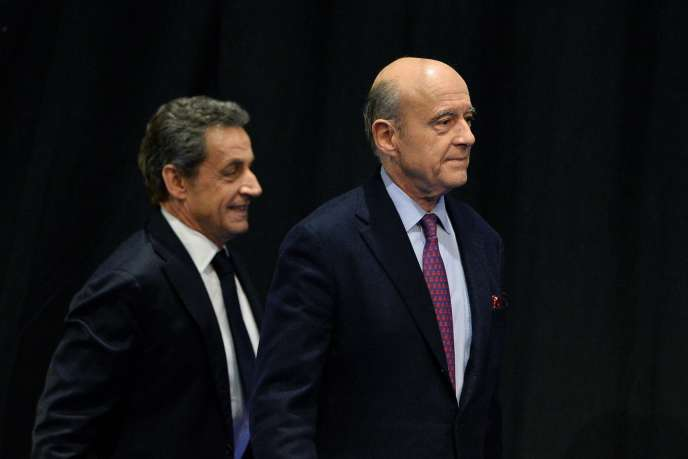 Nicolas Sarkozy et Alain Juppé en octobre 2015.