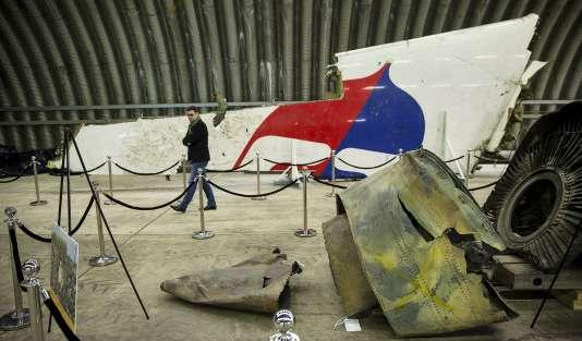 Un débris du vol MH17.