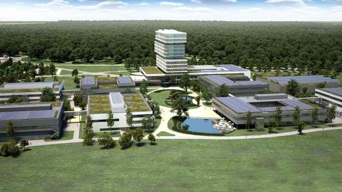 Le nouveau centre de recherche et développement de Bosch à Renningen inauguré, le 14 octobre, parAngela Merkel.