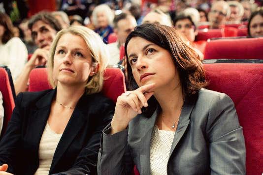 Barbara Pompili (à gauche) et Cecile Duflot coprésident désormais le groupe écologistes à l'Assemblée nationale.