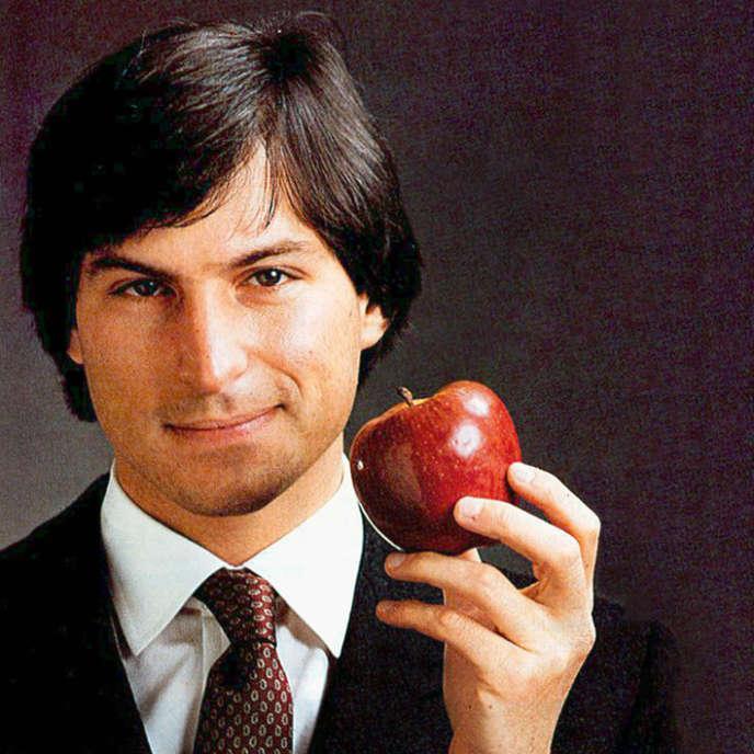 Steve Jobs, cofondateur d'Apple, ici en 1984 a l'époque du lancement du premier  Macintosh.