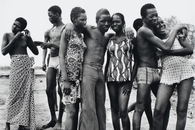 A la Baignade au fleuve Niger, 1973, Malick Sidibé