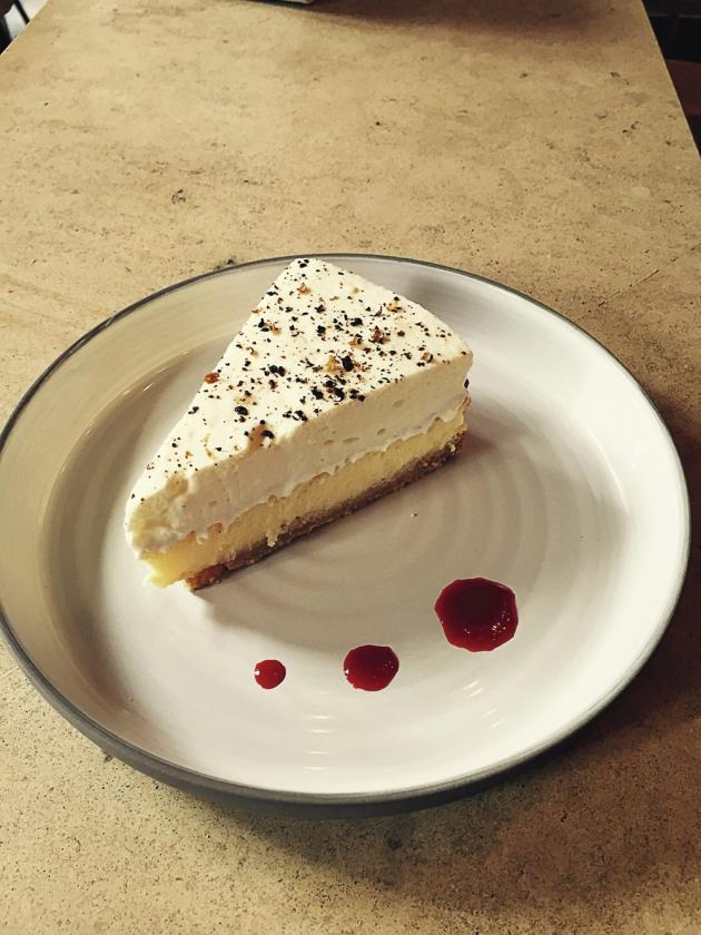 Le cheesecake au poivre de Timut.