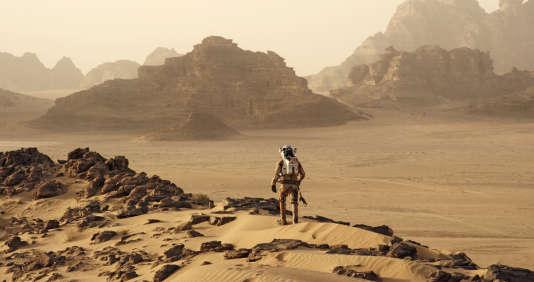 """Les montagnes martiennes reconstituées sans """"Seul sur Mars"""", avec Matt Damon."""