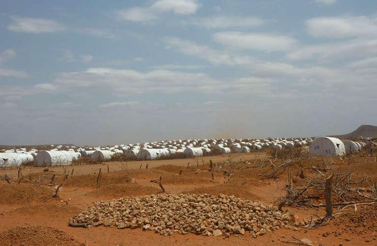 Un camp de réfugiés près de la frontière avec la Somalie, à Kobe, en Ethiopie, en août 2011.