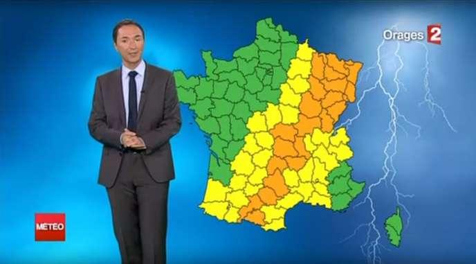 Capture d'écran de la météo de Philippe Verdier sur France 2.
