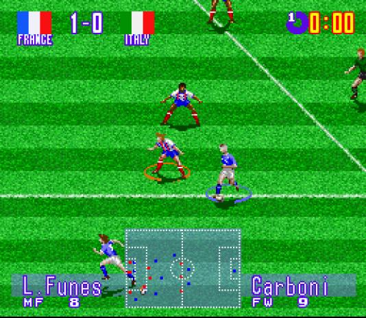 """En 1994, International Superstar Soccer, l'ancêtre de Pro Evolution Soccer, proposait d'incarner un certain """"L. Funes"""" en équipe de France."""
