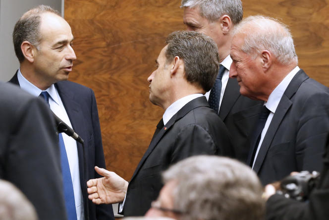 Nicolas Sarkozy et Jean-François Copé en décembre 2014.