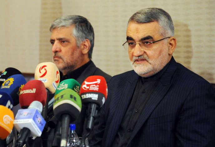 Alaeddin Boroujerdi, président de la commission des affaires étrangères du Parlement iranien, le 15 octobre à Damas.