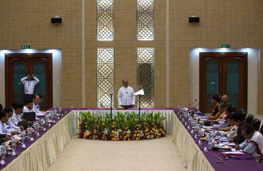 Le président birman Thein Sein le 9 septembre.