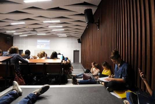 Un cours magistral à l'université Paul-Valéry, à Montpellier, en septembre.