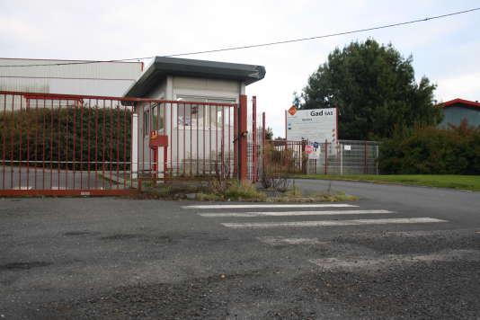 Les locaux de l'abattoir Gad à Lampaul-Guimiliau (Finistère), aujourd'hui désertés.