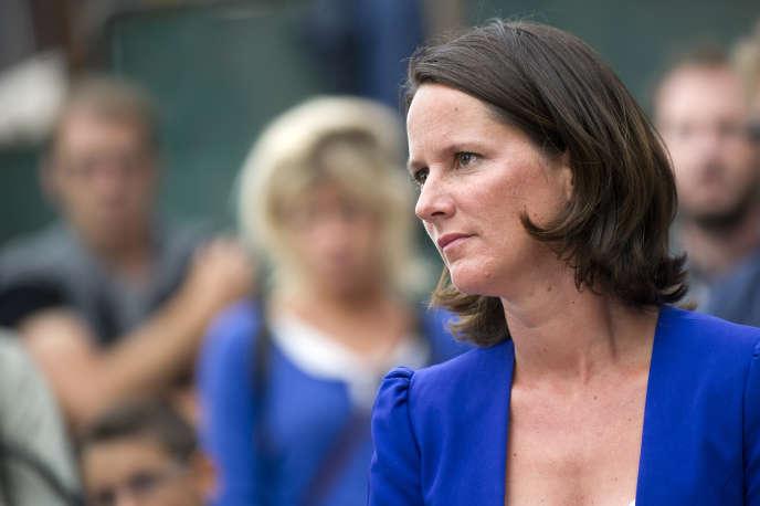 La maire socialiste de Nantes (Loire-Atlantique), Johanna Rolland, le 26 août 2014.