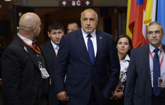 Le premier ministre bulgare, Boïko Borissov, lors d'un sommet des dirigeants du Conseil européen, au Conseil européen de Bruxelles, le 15 octobre 2015.