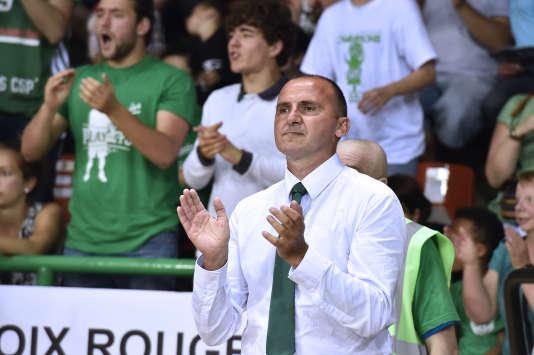 Frédéric Forte durant la finale de Pro A, gagnée en juin par Limoges contre Strasbourg.