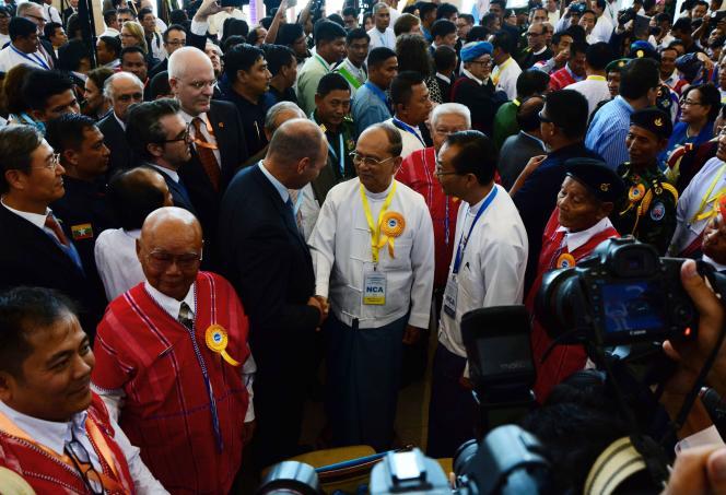 Le président birman Thein Sein à Naypyidaw le 15 octobre.