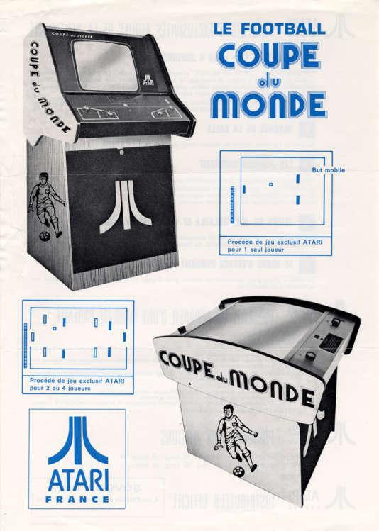 En 1974, le jeu Coupe du monde, d'Atari, est en fait une variante de Pong.