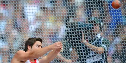 Quentin Bigot en action aux Jeux olympiques de Londres, en 2012, avant sa suspension.