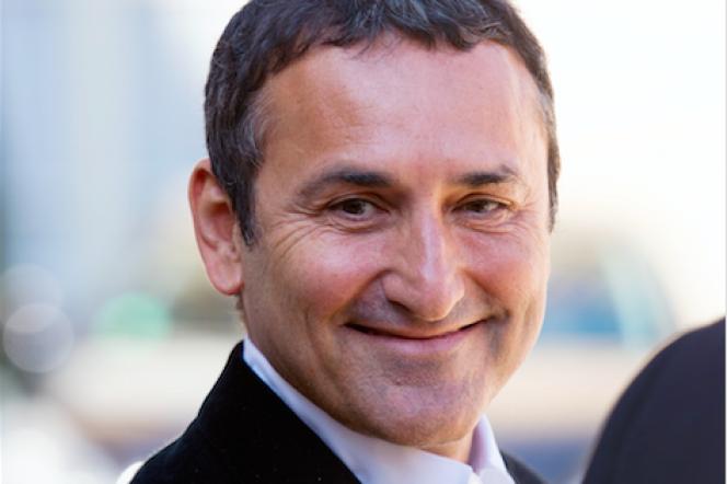 Pascal Houzelot, actionnaire principal de Numéro 23, à la sortie de l'Elysée en avril 2013.