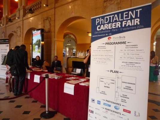 Lors de l'édition 2014 de la PhDTalent Career Fair.