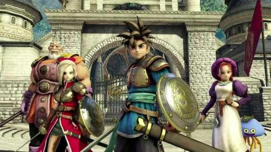 Dragon Quest Heroes, c'est une troupe de quatre héros au choix, une douzaine de personnages en tout,  et surtout des milliers de monstres rondouillards à occire.