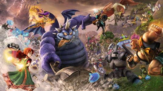 Le bestiaire fait immanquablement penser aux débuts de Dragon Ball. Il vient de Dragon Quest, série dessinée dès le départ par Akira Toriyama.
