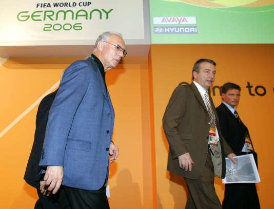 Franz Beckenbauer (à gauche) en 2005.
